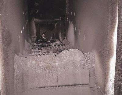 Biomass boiler-before-servicing