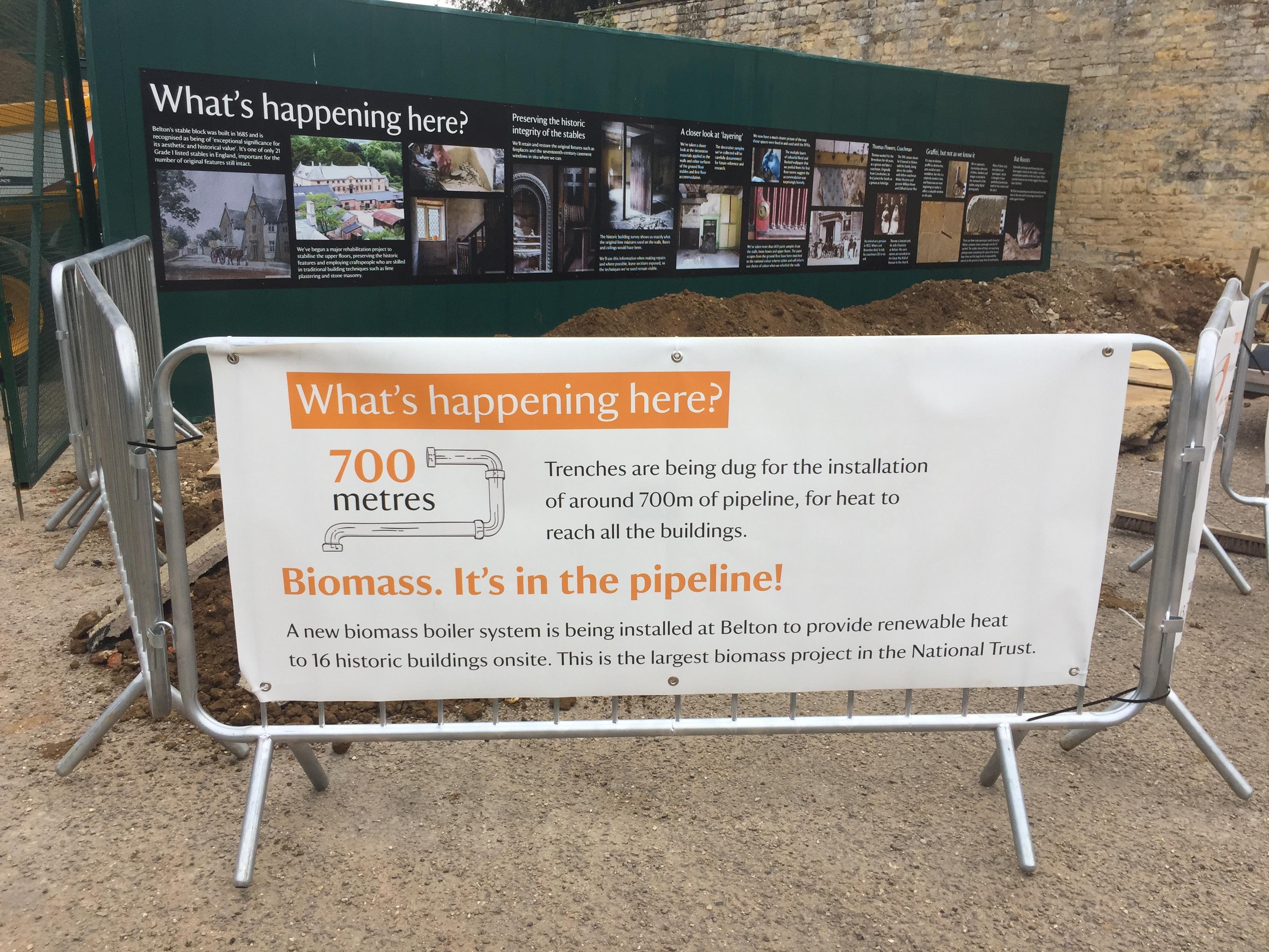 National Trust Biomass barrier