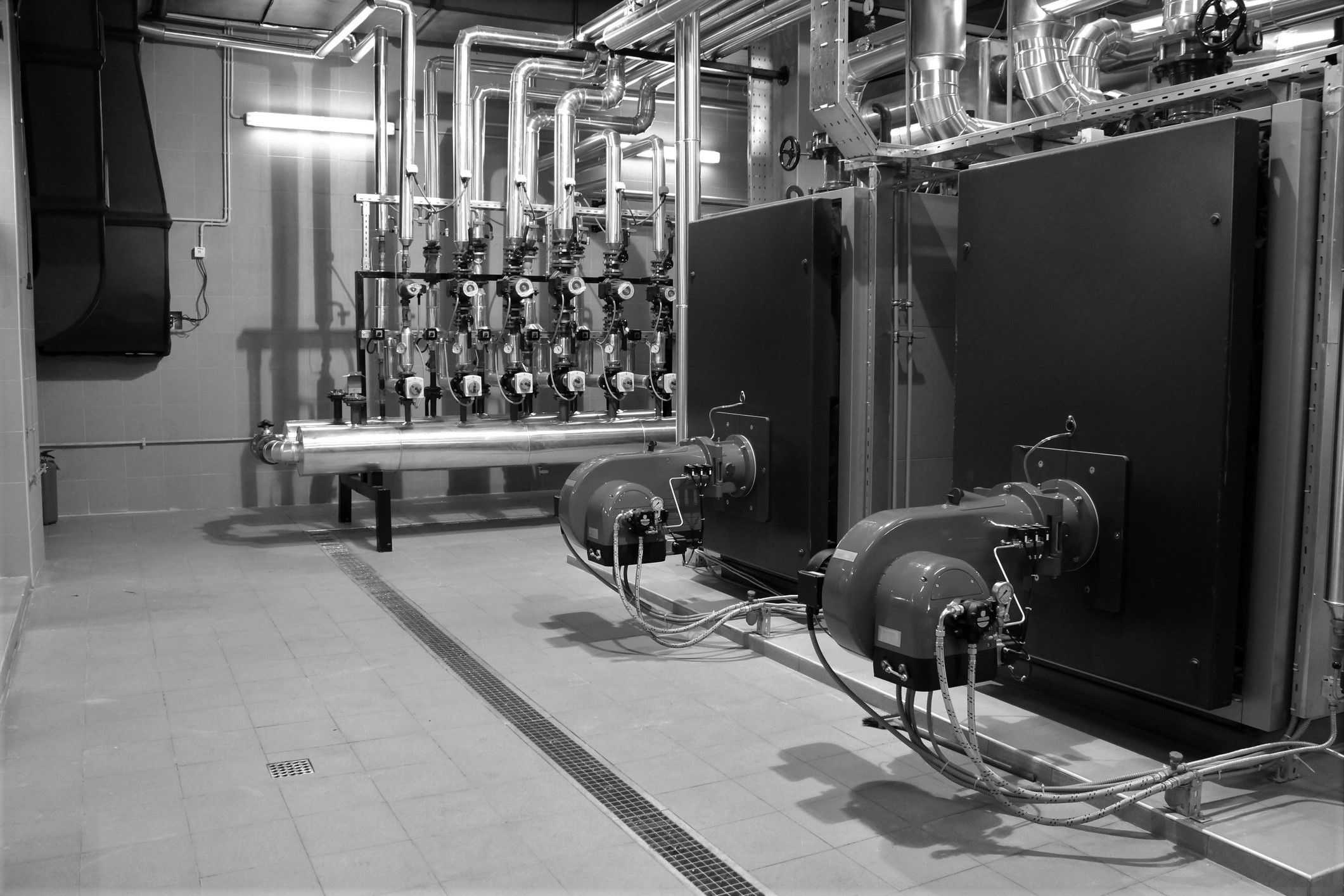 Inside of a boiler room system