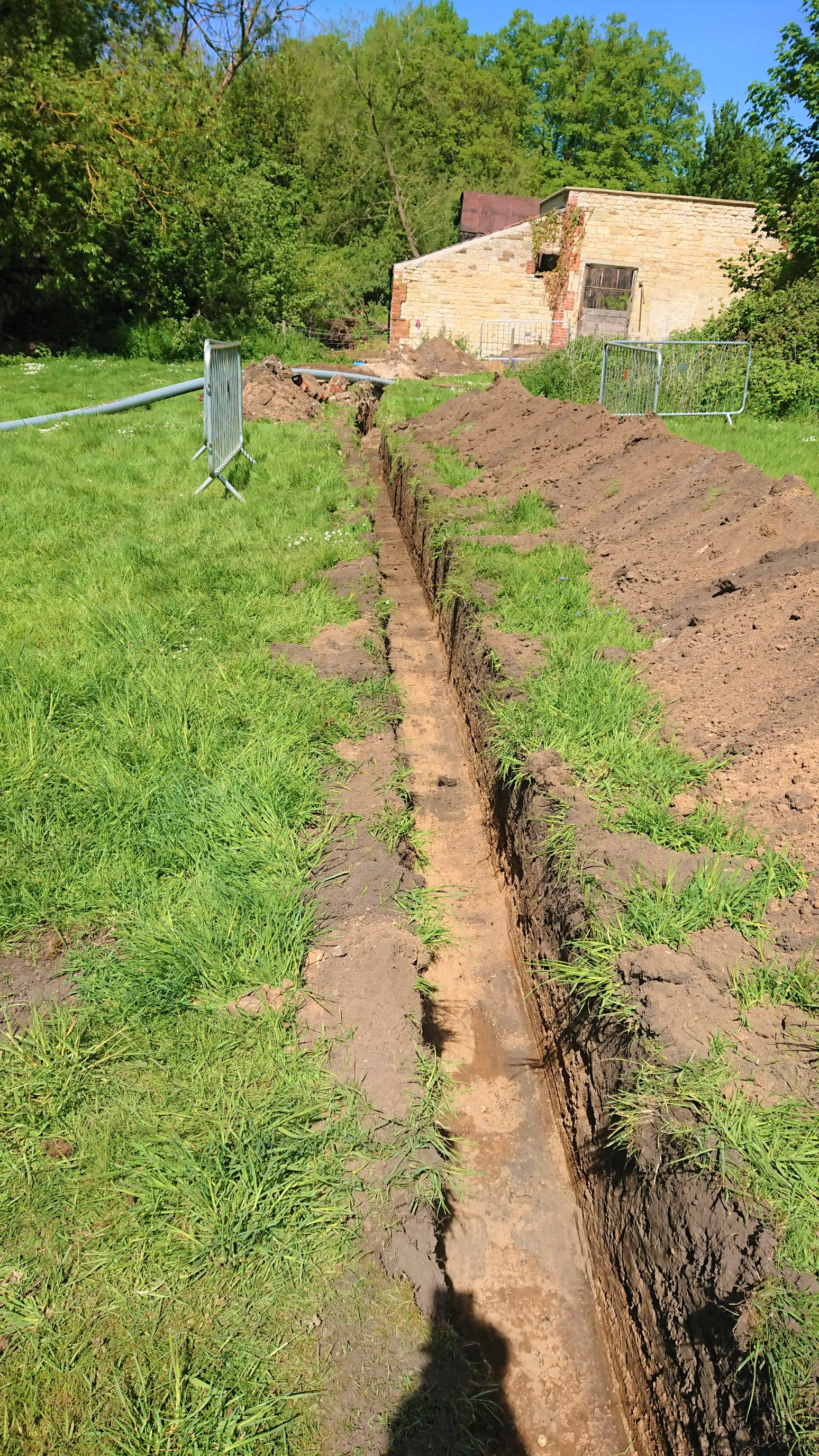 Section 1 trenching - Belton House
