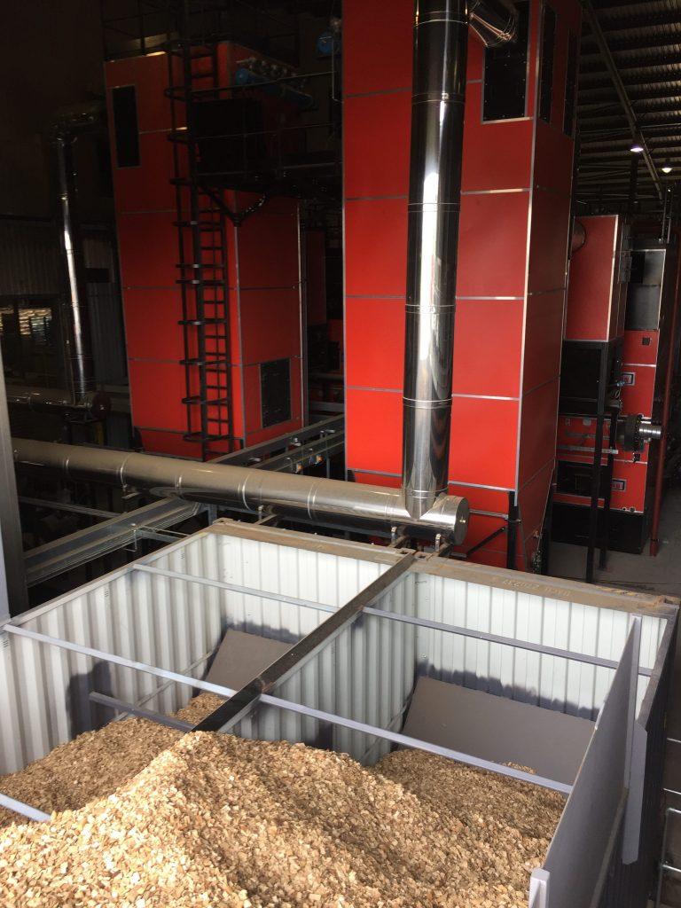 Woodchip silos for 2 x 3MW Biomass Boilers