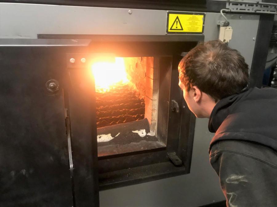 Biomass chamber servicing